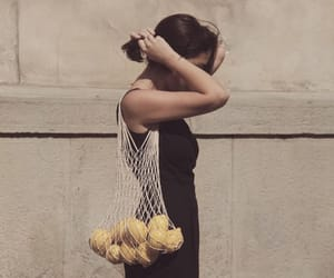 girl, lemon, and indie image