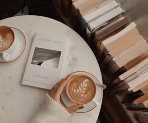 books, coffee, and Late image