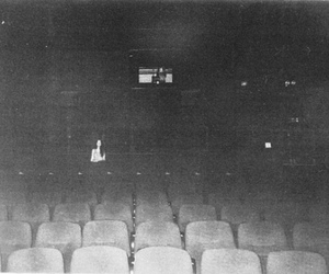 cinema, black and white, and alone image