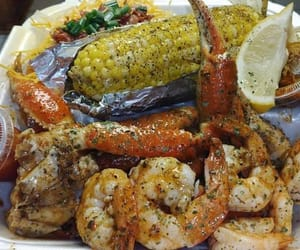 crab, food, and yum image