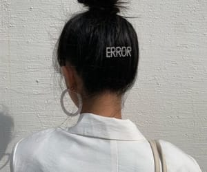error, girl, and hair image