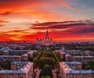 moscow and sunset image