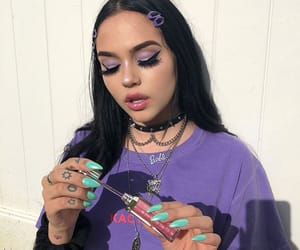 maggie lindemann, purple, and aesthetic image