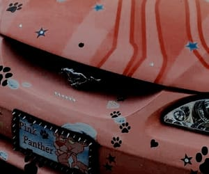 aesthetic, car, and pink cyber image