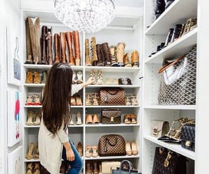 bags, chic, and closet image