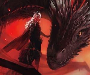 got, daenerys, and drogon image