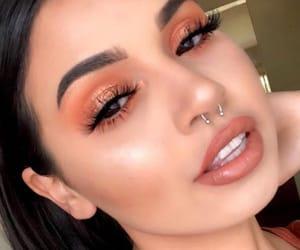 beautiful, eyebrow, and lashes image
