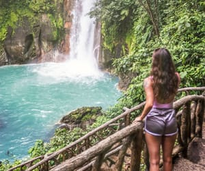 costa rica, long hair, and lush image