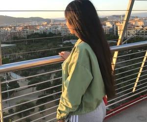 girl, hair, and snap image