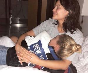 kylie jenner, hailey baldwin, and friendship image