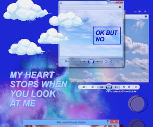 blue, space, and text image