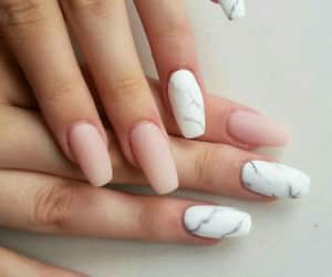 nails, pink, and marble image
