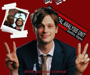 cm, matthew gray gubler, and red image