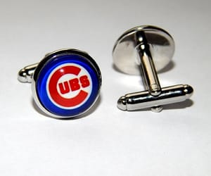 etsy, wedding cufflinks, and chicago cubs jewelry image
