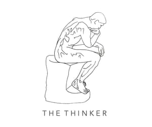 art, black and white, and the thinker image