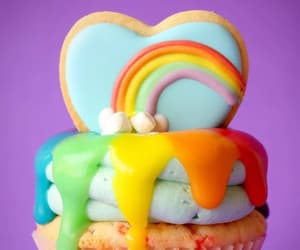 cupcake and rainbow image