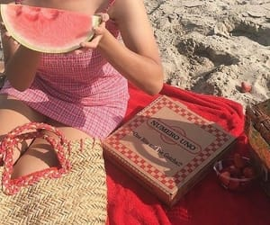 red, aesthetic, and summer image