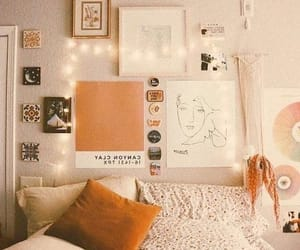 bedroom, dorm, and glam image