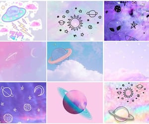 clouds, galaxy, and mood board image