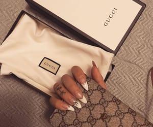 nails, girl, and gucci image
