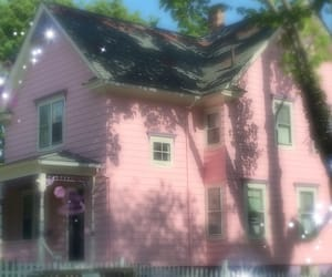 house, pink, and cottagecore image