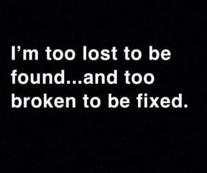 broken, lost, and sad image
