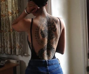 tattoo, back, and girl image