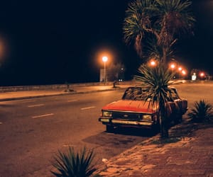 cars, night, and street photography image