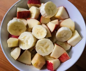 Oatmeal with bananas and apples 🍎🍌🌱✨