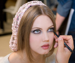 eyeliner, backstage, and chanel image