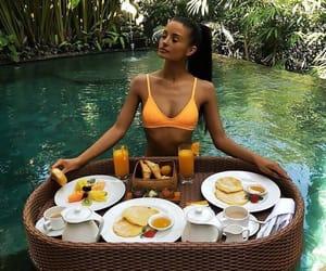 summer, food, and bikini image