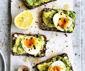 avocado, egg, and food image