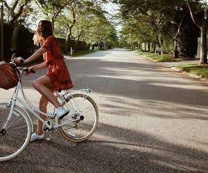girl, bike, and nature image