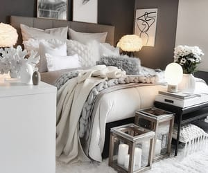 bedroom, home, and décoration image