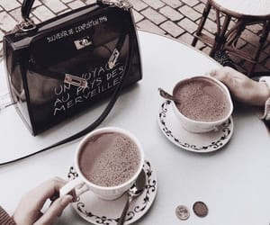 coffee, drink, and purse image