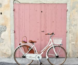 pink, bike, and bicycle image