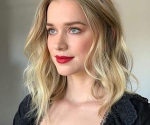 blonde, makeup, and lipstick image