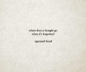 forgotten, a thought, and sigmund freud image
