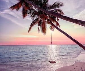 sea, travel, and beach image