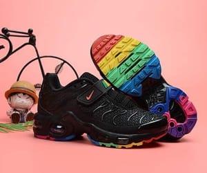 black, nike, and rainbow image