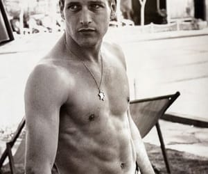 actor, black and white, and paul newman image
