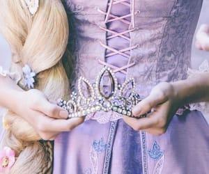 rapunzel, crown, and disney image
