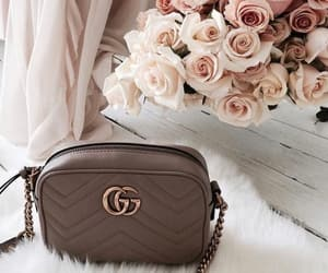 fashion, flowers, and bag image
