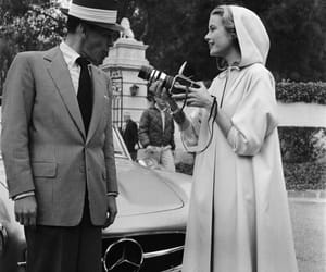 grace kelly, frank sinatra, and black and white image