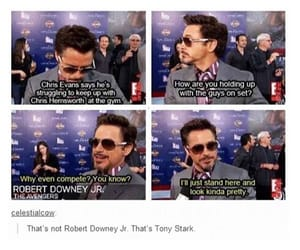 actors, ironman, and Marvel image