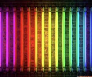 aesthetic, rainbow, and tube lights image