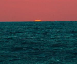 sunset, ocean, and sea image