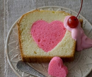 pink, heart, and cake image