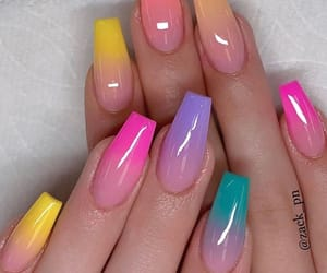 nails, acrylic, and colorful image