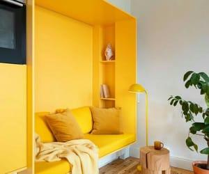 yellow, decor, and home image